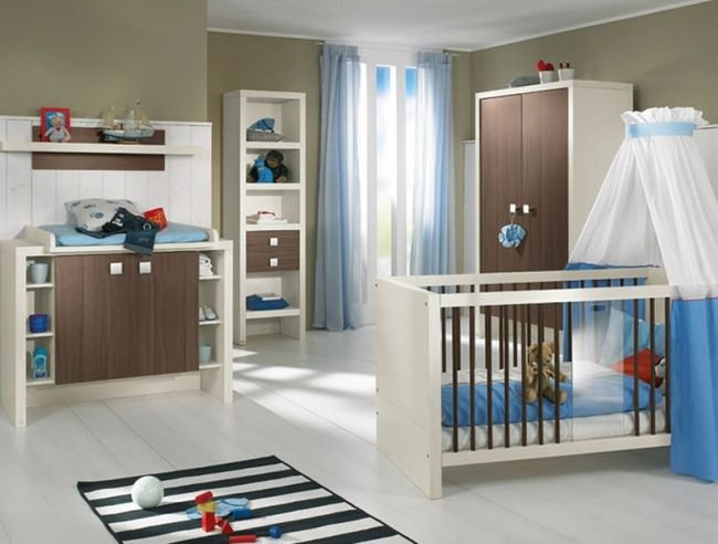 Schon Blau Streifen Teppich Wohnideen Babyzimmer Jüngen