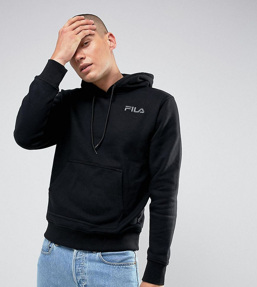 2e597fe2 FILA BLACK HOODIE WITH SMALL LOGO IN BLACK EXCLUSIVE TO ASOS - BLACK ...