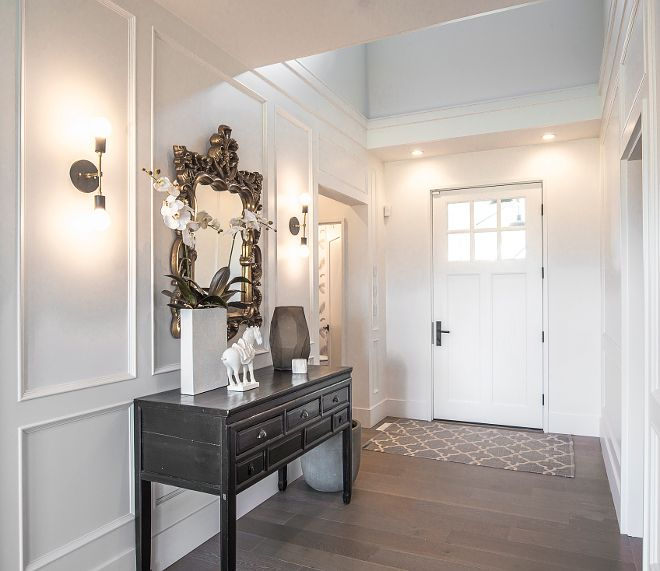 Oxford White By Benjamin Moore Bright Foyer With Custom