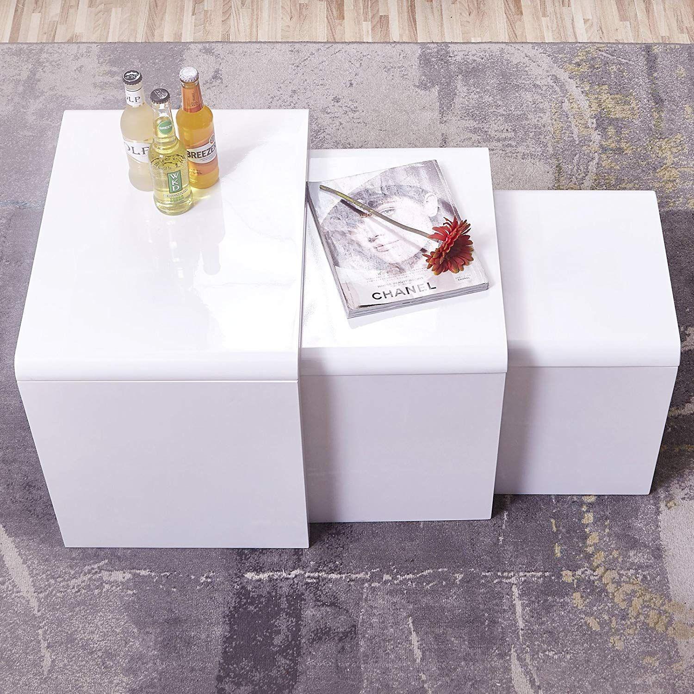 Mecor White Nesting Coffee Table Nesting Coffee Tables Unique Coffee Table White Living Room [ 1500 x 1500 Pixel ]