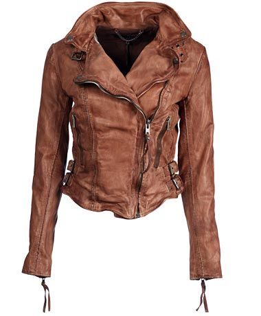 amazing brown distressed leather jacket
