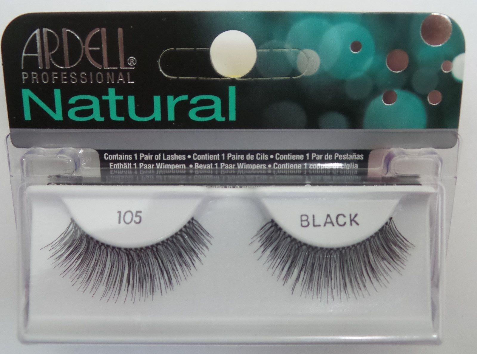 bcf17d71fd7 (Lot Of 10) Ardell Natural Lashes #105 False Fake Eyelashes Black Lash  Eyelash