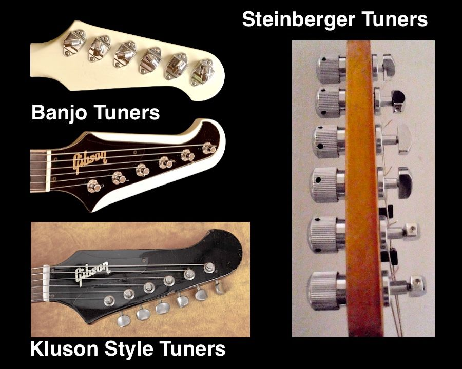 Gibson Firebird Tuners over the years beginning with the banjo style