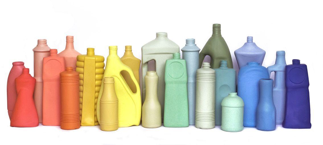 "Porcelain ""plastic bottles"" designed in the Netherlands by Foekje Fleur. €29"
