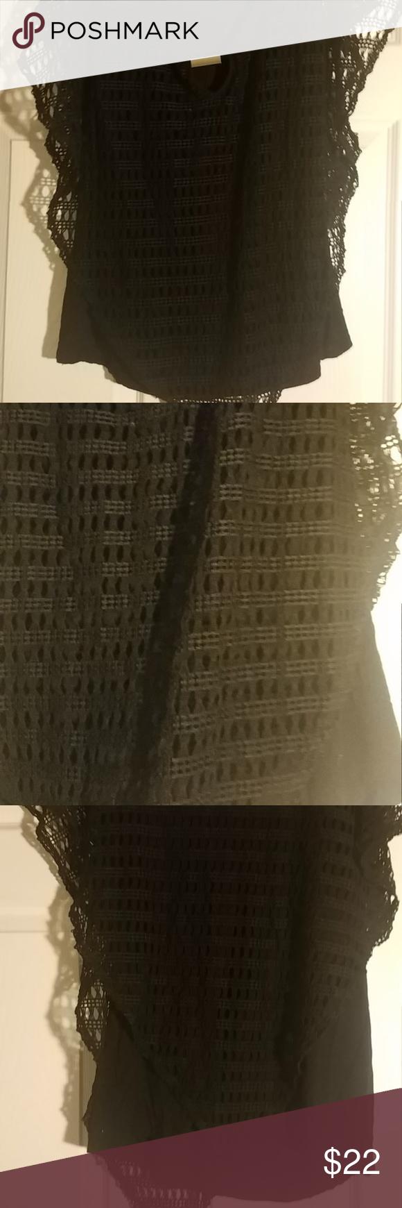 Naif XL black top with crochet and slip Naif XL black top with crochet and slip measurements: 32″ bust by 25.5″ length Naif Tops