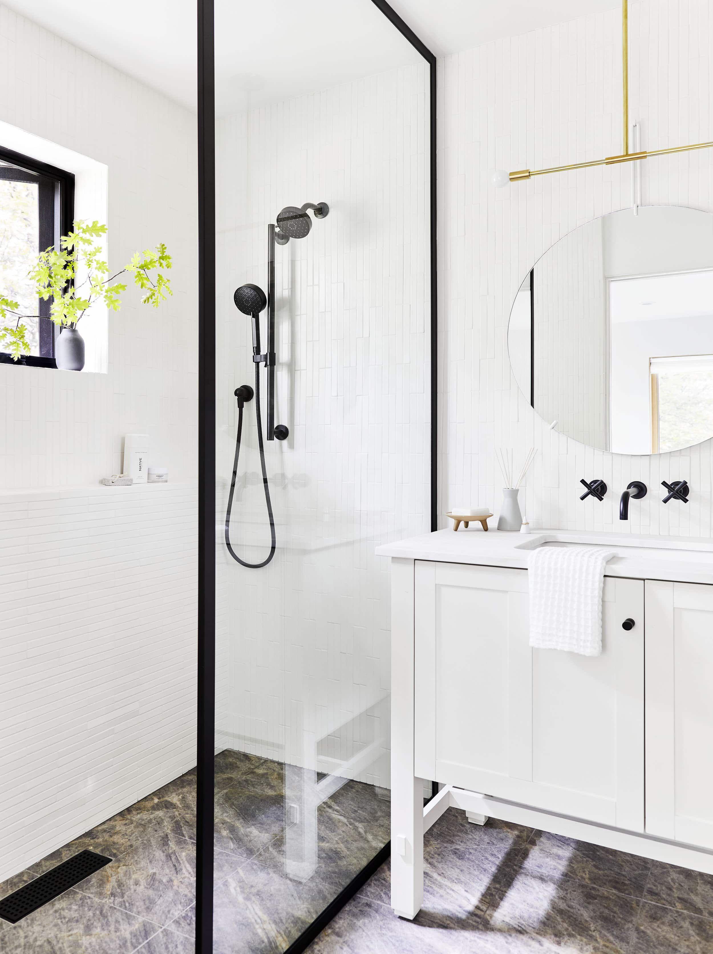 Mountain House Reveal The Closet Turned Modern Guest Bathroom Guest Bathroom Bathroom Inspiration Modern Shower