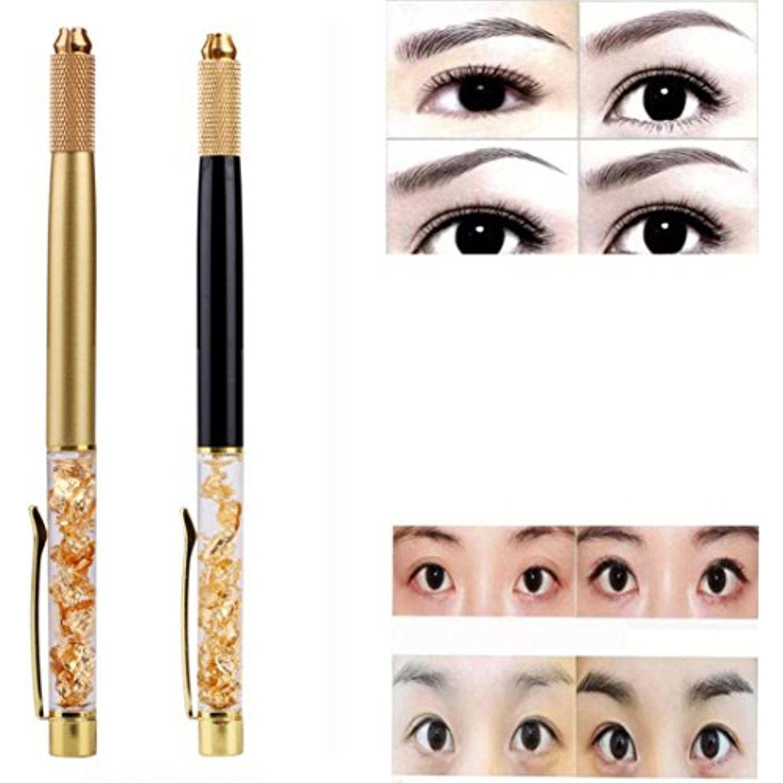 Dzt1968 eyebrow gold foil tattoo 3d pen manual permanent