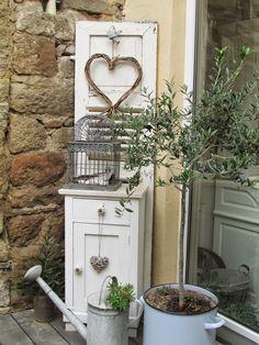 Gartendeko Shabby terrassen einrichtung und dekoration http shabbychic und co