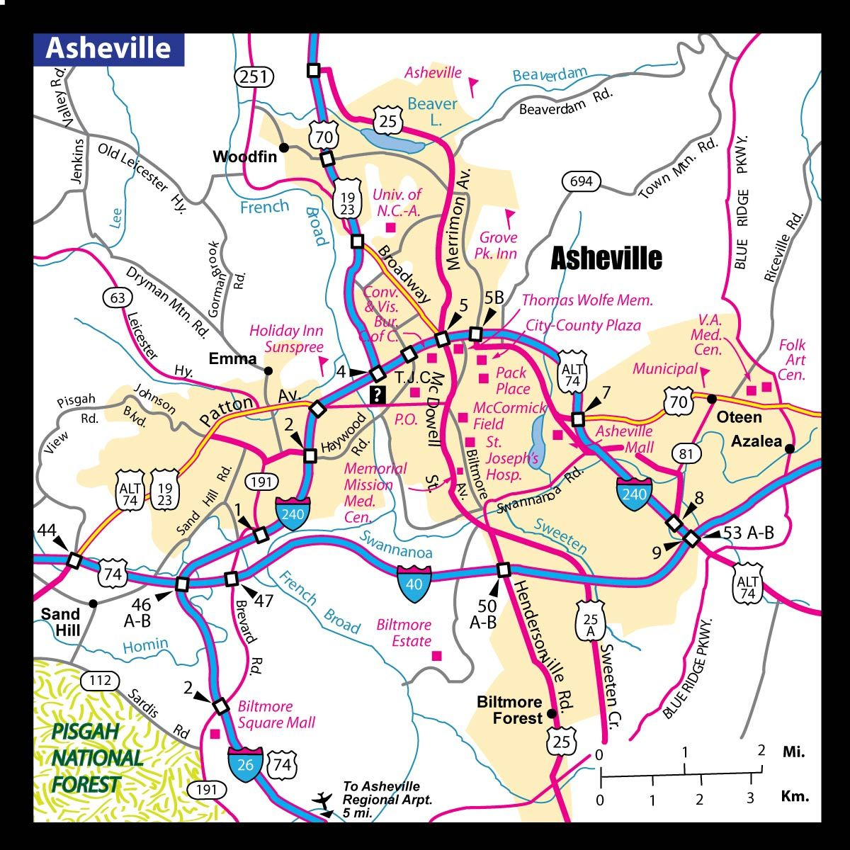 A Map Of Asheville Nc My Work Asheville Asheville Nc Map