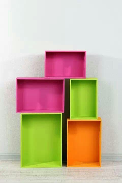 Cajones de frutas o verduras ideales para acomodar cosas reciclado madera cajones otro uso - Cajones de fruta de madera ...