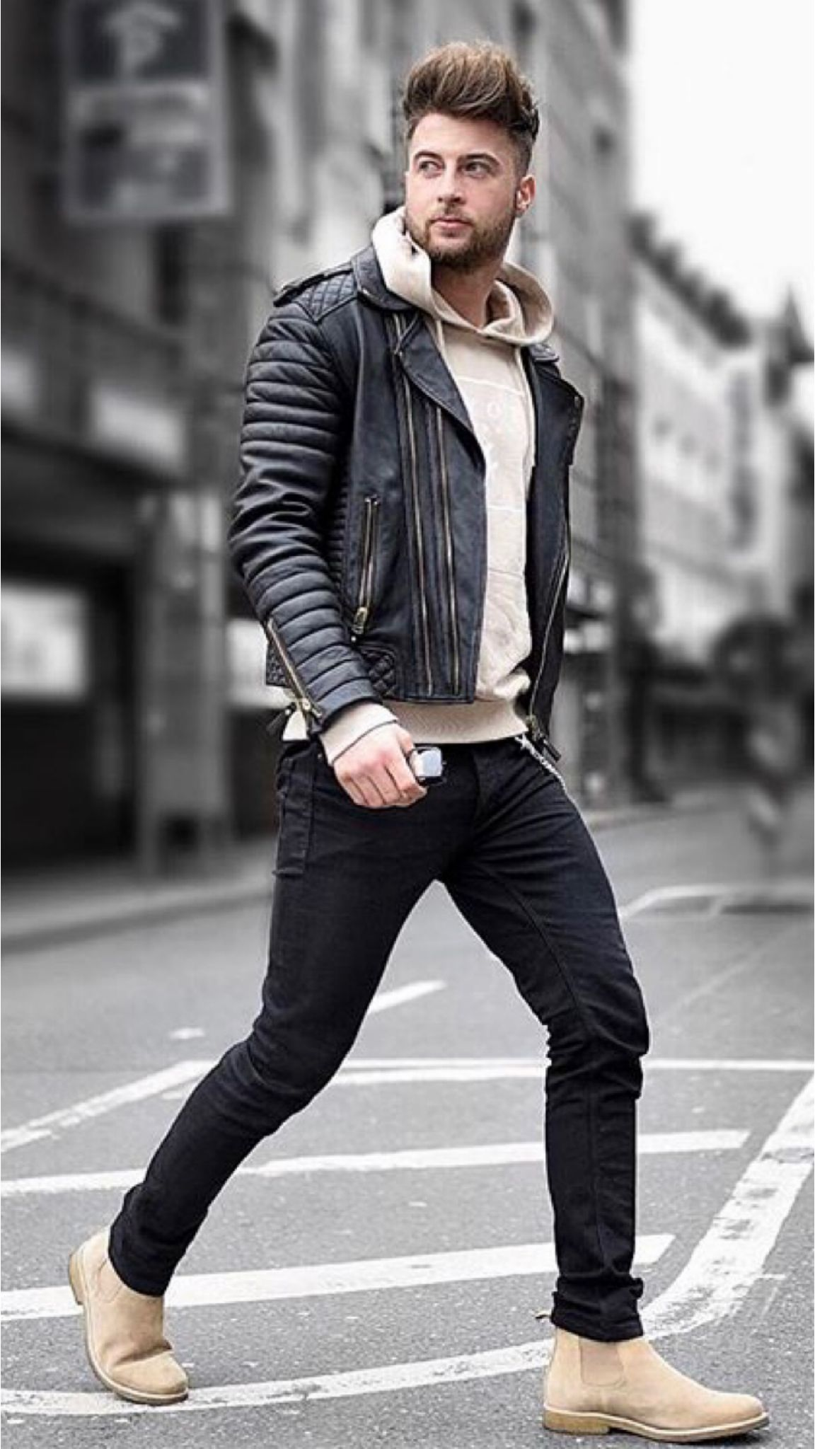 19 Outfits You Need To Copy From This Influencer Leather Jacket Outfit Men Leather Jacket Men Style Black Leather Jacket Outfit [ 2048 x 1152 Pixel ]
