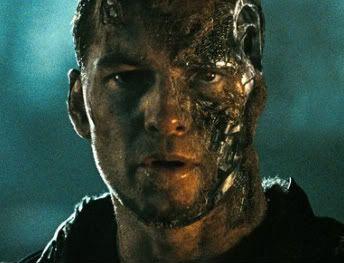 Sam Worthington, as Marcus Wright/ new model T-800 in Terminator Salvation (2009)
