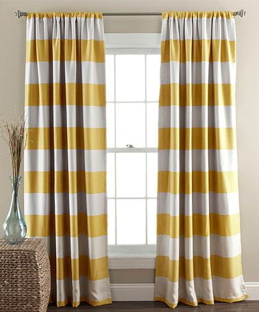 Look What I Found On Zulily Yellow Stripe Blackout Curtain Panel