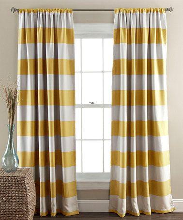 Yellow strip window panel