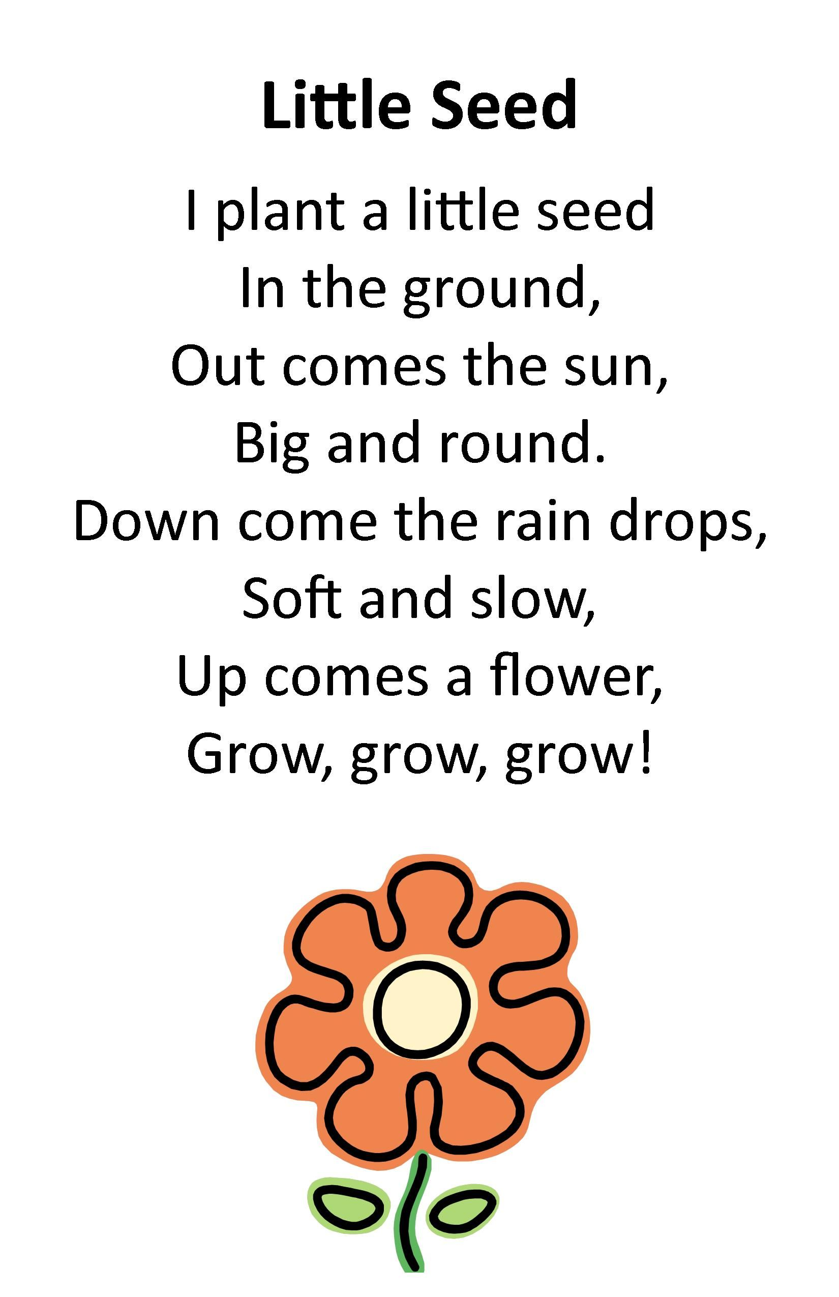 Itty Bitty Rhyme Little Seed Itty Bitty Preschool Programs