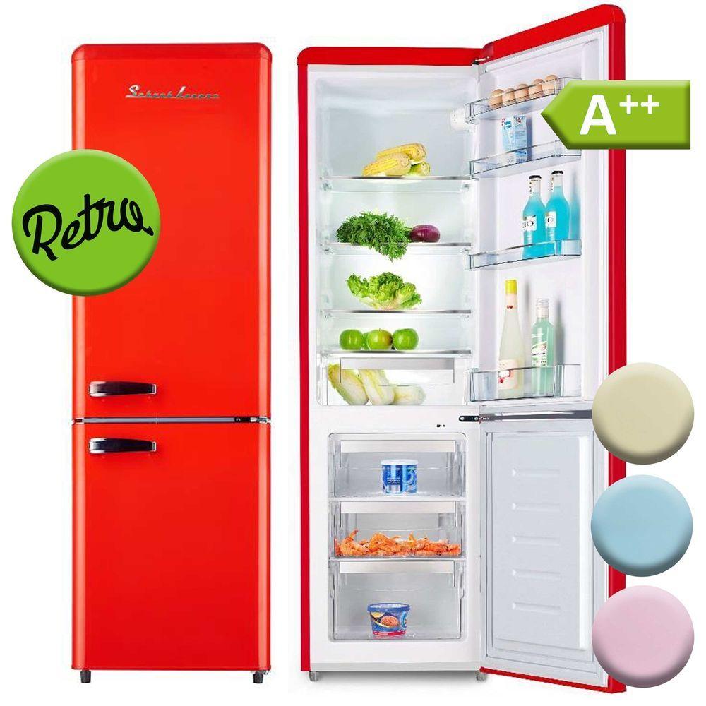 Gefrierschränke A++ Kühl Gefrierkombination Kühlschrank Freistehend Retro  250 L. Schaub Lorenz ; EEK A++%#Gefrierschränke%