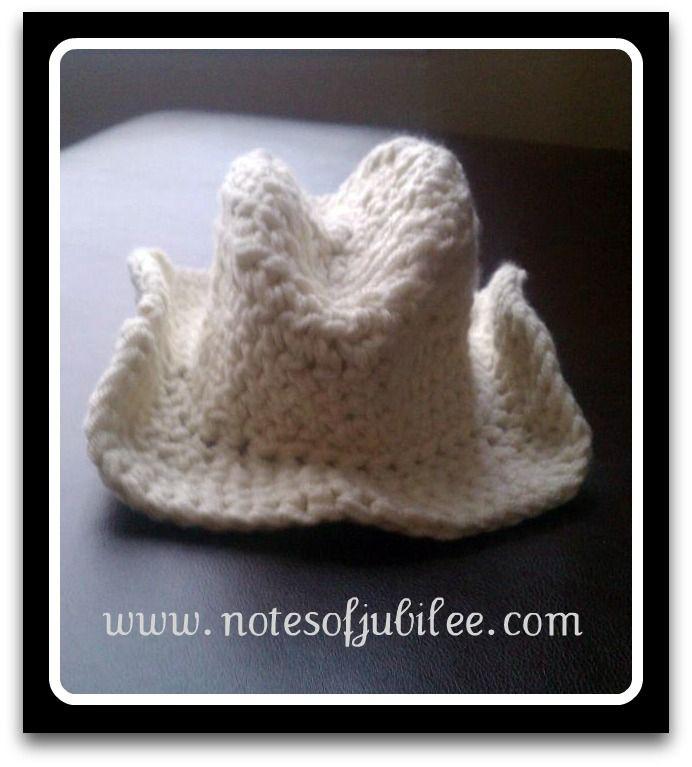 Baby Crochet Cowboy Hat Pattern Free Crochet Projects Pinterest