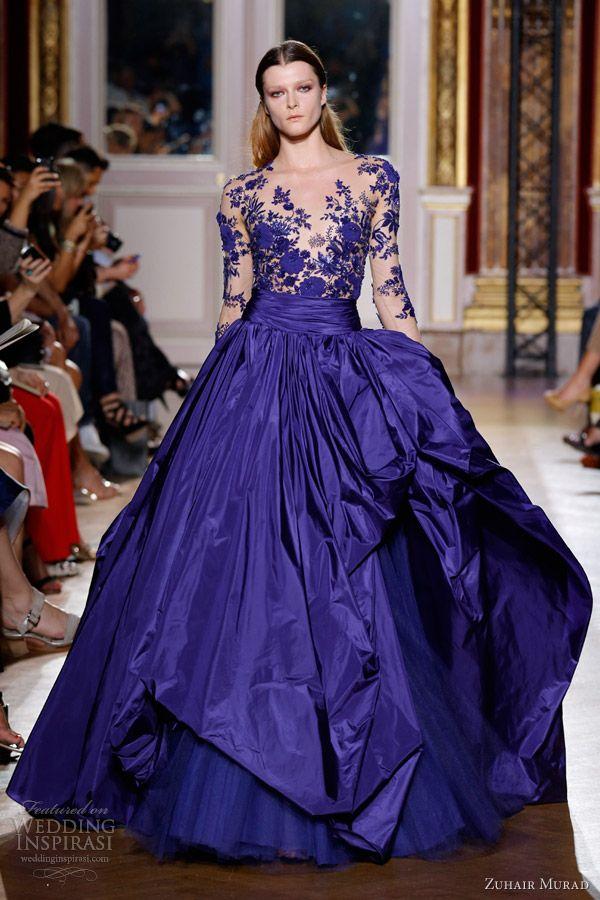 Zuhair Murad Fall 2012 Couture   Vestiditos, Te quiero y Azul