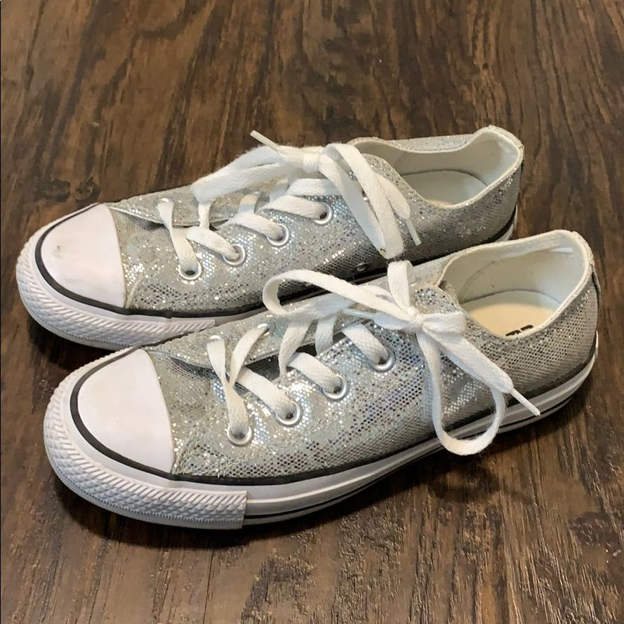 really cheap huge selection of cost charm Converse Shoes | Womens 6 Converse Silver Glitter | Color ...