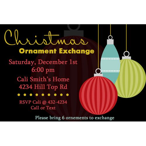 Ornament Exchange Holiday Party Invitations It\u0027s all about - holiday party invitation