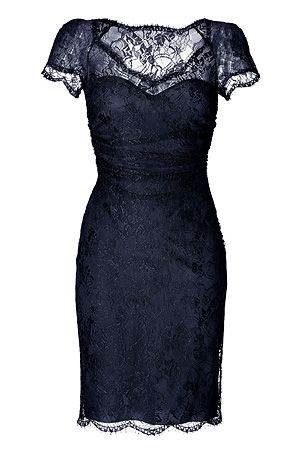Pin by Hilary Kerr on My Style | Lace blue dress, Navy blue