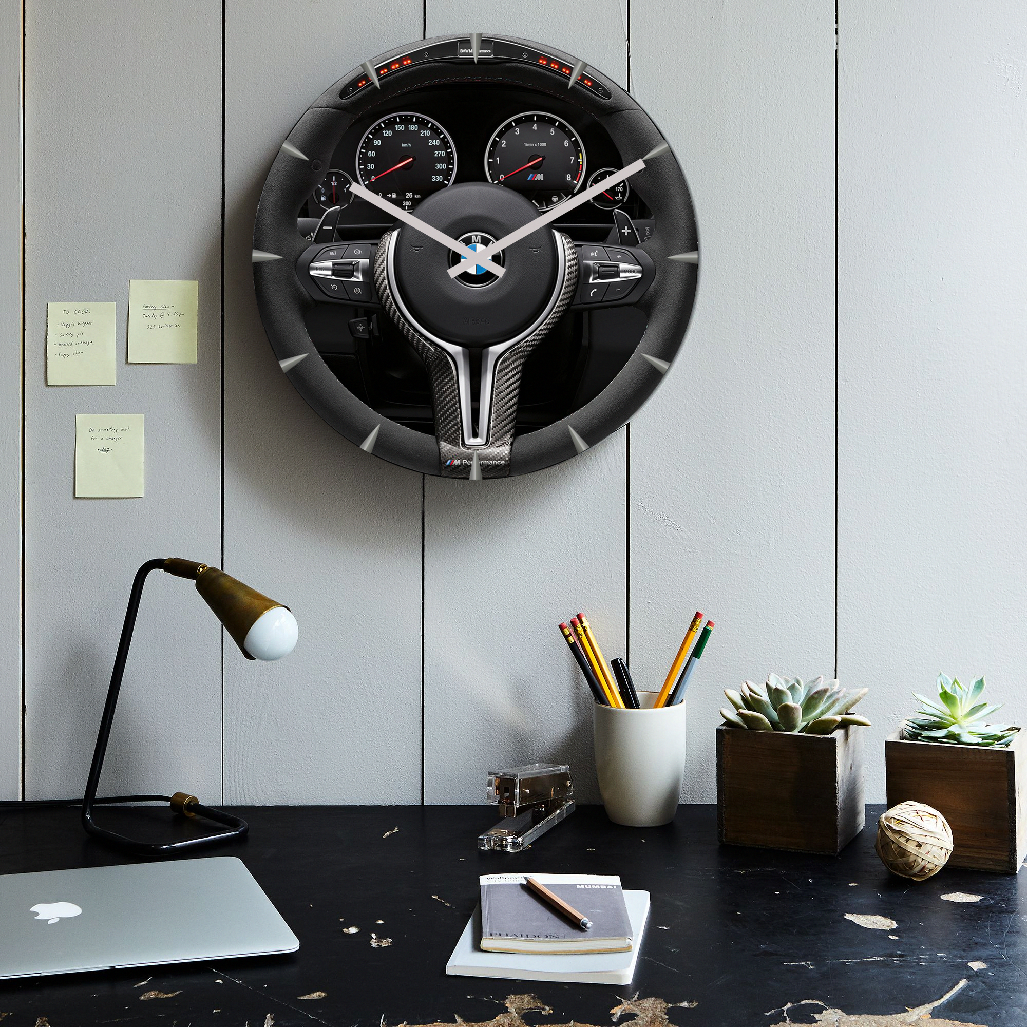e8736909f65 Christmas Present Idea For Men BMW Steering Wheel Clock   inexpensivechristmaspresents