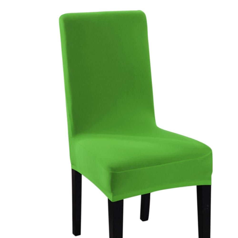 new arrival spandex chair cover solid color dining chair cover