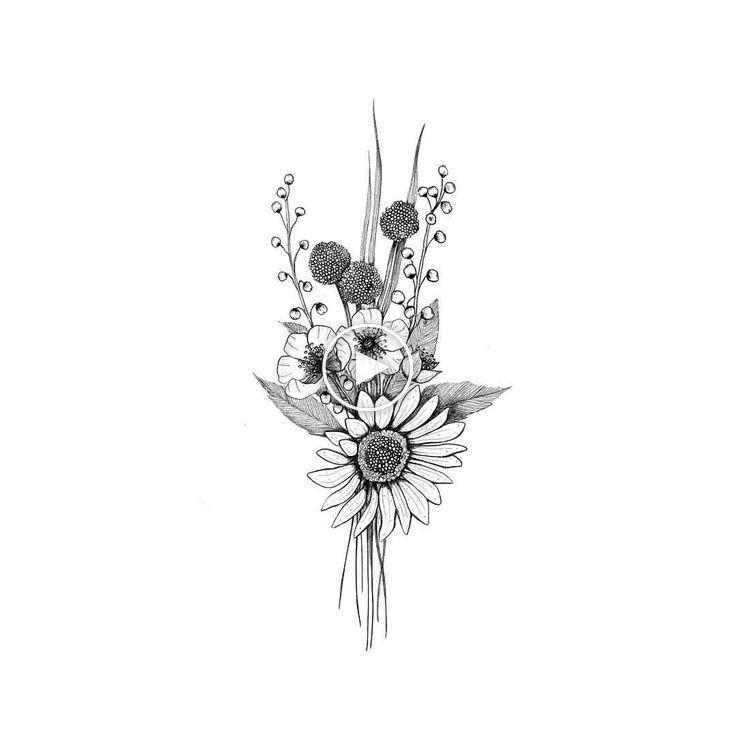 Kleiner Blumenstrauss Ich Fing An Zu Uben Kleine Blumenarrangements Zu Zeichnen Tatuajes Flores Pequenas Flores Para Dibujar Tatuajes De Arte Corporal