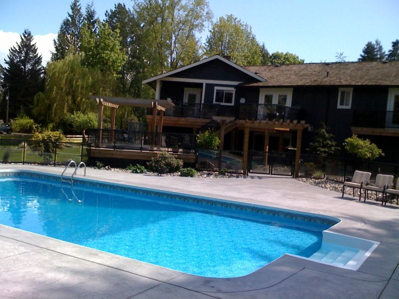 Rectangle Pool Love The Big Shallow End With Images Spa Pool