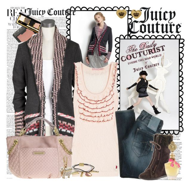 Juicy Couture: The Daily Couturist. by seamusfinnigan on Polyvore featuring polyvore fashion style Juicy Couture G-Star Raw Bobbi Brown Cosmetics NARS Cosmetics