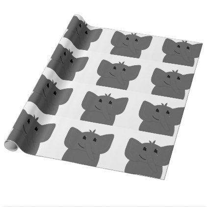 Cute Little Elephant Drawing Wrapping Paper - baby gifts child new born gift idea diy cyo special unique design