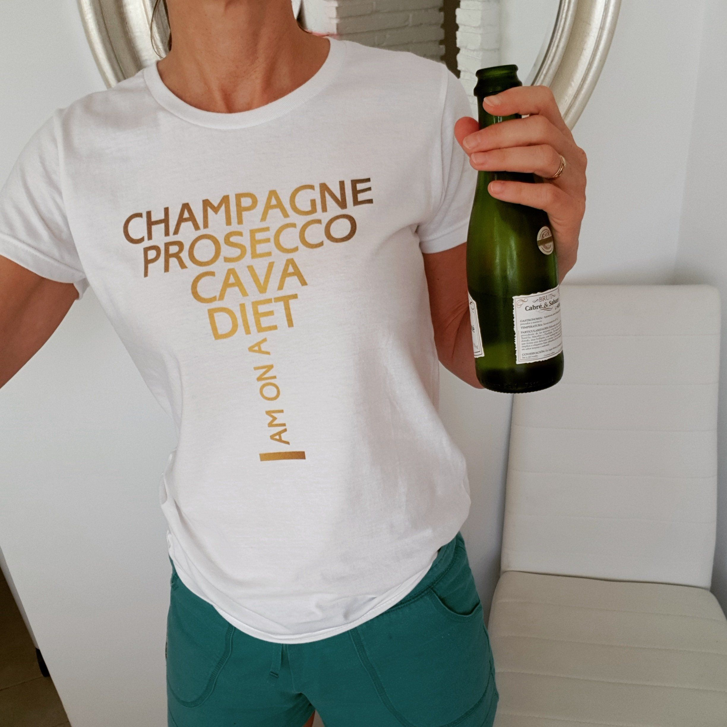 d422e8e327 Champagne Diet | Women's Fitted Tee | Champagne Shirt | New Years Eve | New  Years Party | Christmas Shirt | Bachelorette Shirt | Pop Bubbly by  OnTrendShirts ...