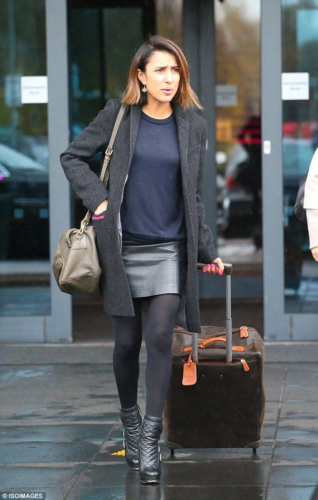 6265dd65147 Making tracks: Anita Rani looked cute in a leather skirt as she headed to  show rehearsals