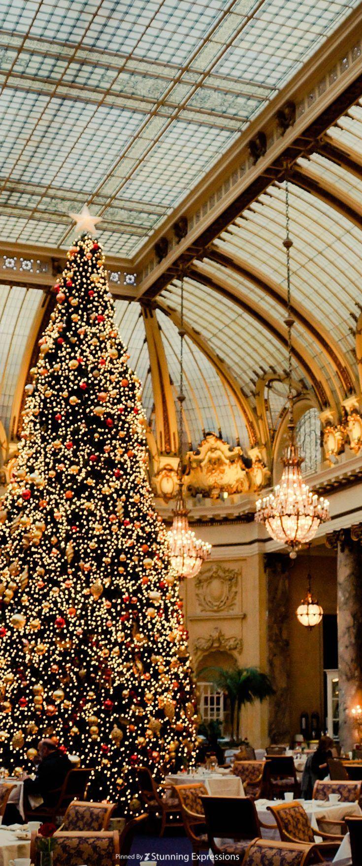 Christmas Palace.Palace Hotel San Francisco California Us Christmas In