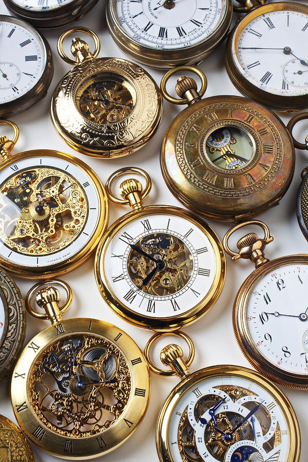 Rows Of Pocket Watches by Garry Gay