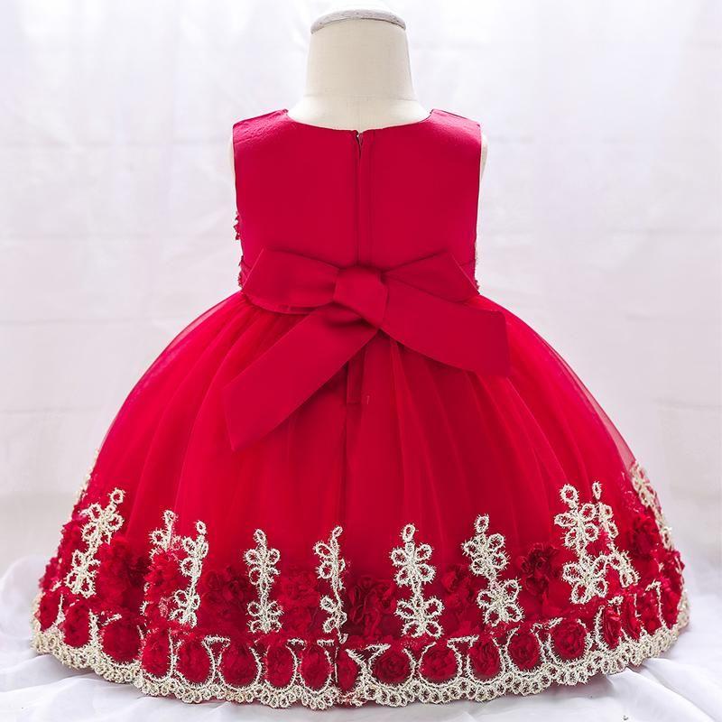 New Baby Girl Winter Christmas Clothes Wedding Tutu Dress For Girls