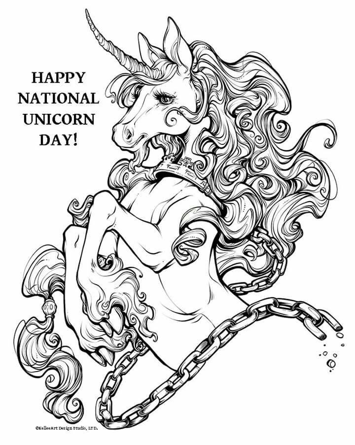 Unicornio   ลาย   Pinterest   Runes, Fairy and Adult coloring