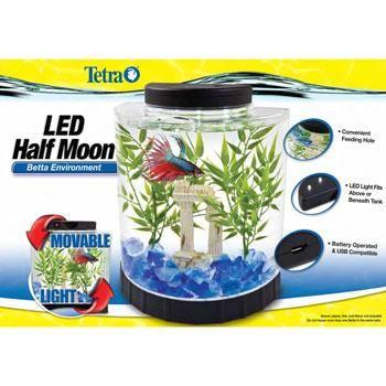 Tetra 1 Gallon Led Half Moon Betta Kit Desktop Fish Tank And Nano Aquarium From Petco Com Betta Nano Aquarium Tetra