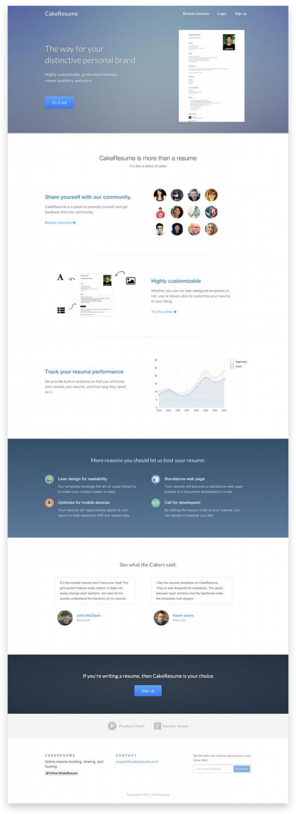 如何透過最小可行產品(MVP)測試創業想法 Beautiful web design, Resume builder
