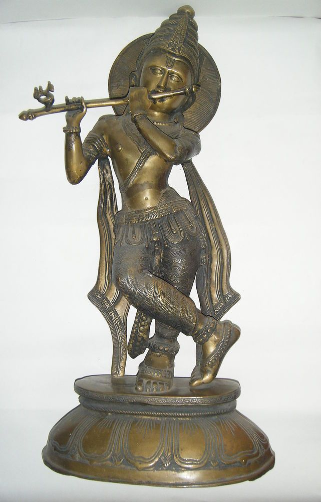 Br Temple Statue Antique Hindu