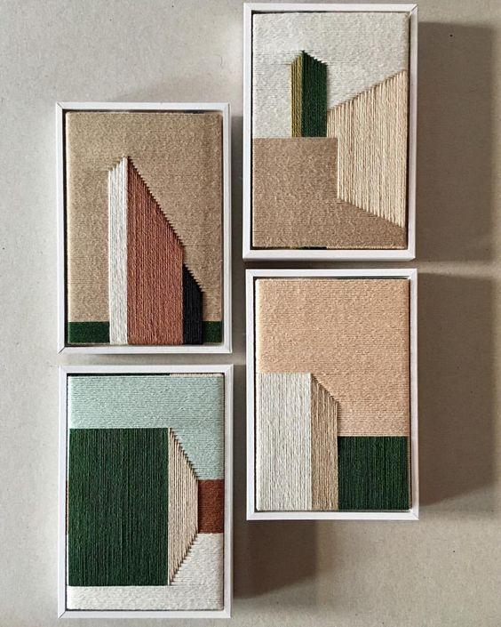 Piezas de arte textural