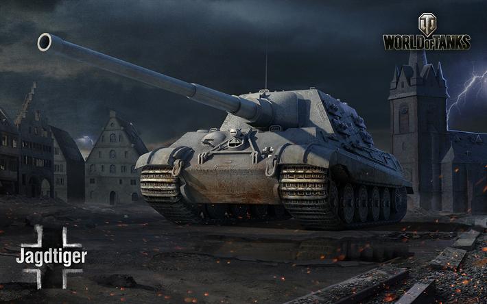 Lataa kuva World of Tanks, Metsästys tiikeri, Saksan itseliikkuvat aseet, WoT, Saksa, itseliikkuvat tykistön järjestelmä, Tank Hunter Tiikeri