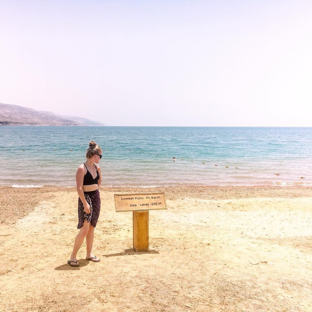 Lowest Point On Earth At The Dead Sea Famous Landmarks Trip Travel