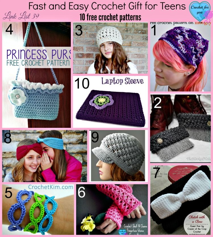 Fast And Easy Crochet Gift For Teens 10 Free Crochet Patterns