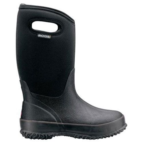 Bogs Kids Classic High Handles Boot - 100% waterproof and ready for anything Mother Nature may bring. Crafted from high quality, natural rubber for maximum durability, these boots will last for years. Easy pull-on handles. Comfort rated to withstand up to -30°F.