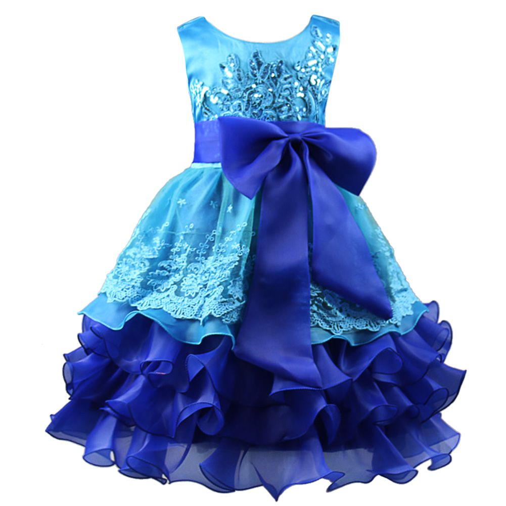 New Fashion Baby Girls Princess Dress Sequin Formal Evening Gown ...