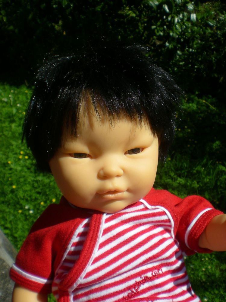 berjusa puppe 50 cm asia junge babypuppe aus vinyl doll. Black Bedroom Furniture Sets. Home Design Ideas