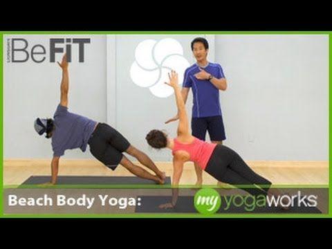 beach body yoga workout  myyogaworks david kim///did it
