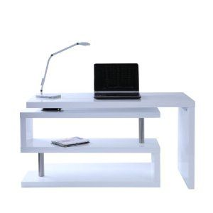Miliboo Scrivania Design Laccata Bianca Max Amazon It Casa E Cucina Bureau Design Bureau Moderne Meuble Design