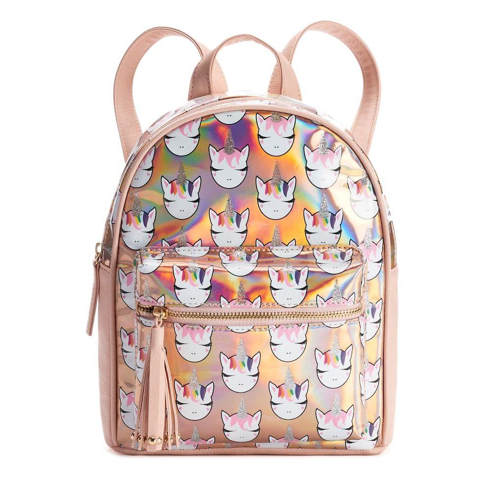 OMG Accessories Glitter Unicorn Hologram Mini Backpack  e98e53d62ff53